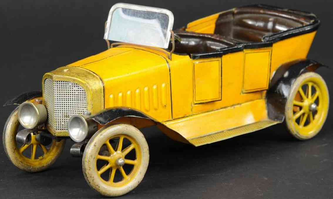 maerklin 5208 weissblech spielzeug luxusauto tourenwagen gelb