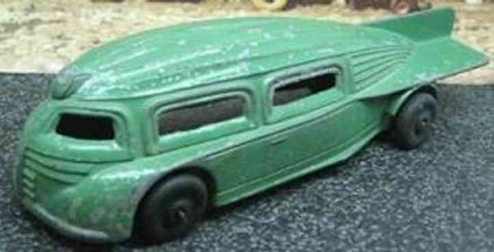 manoil cast iron toy car futuristic rocket bus