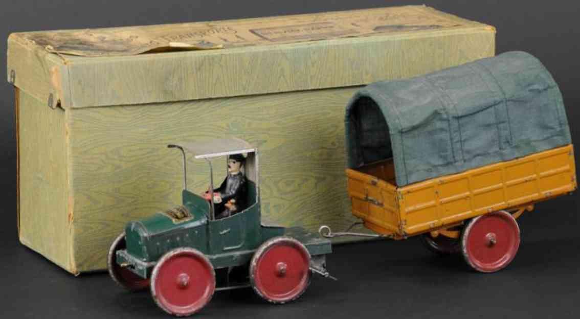 martin fernand 249 blech traktor anhaenger uhrwerk