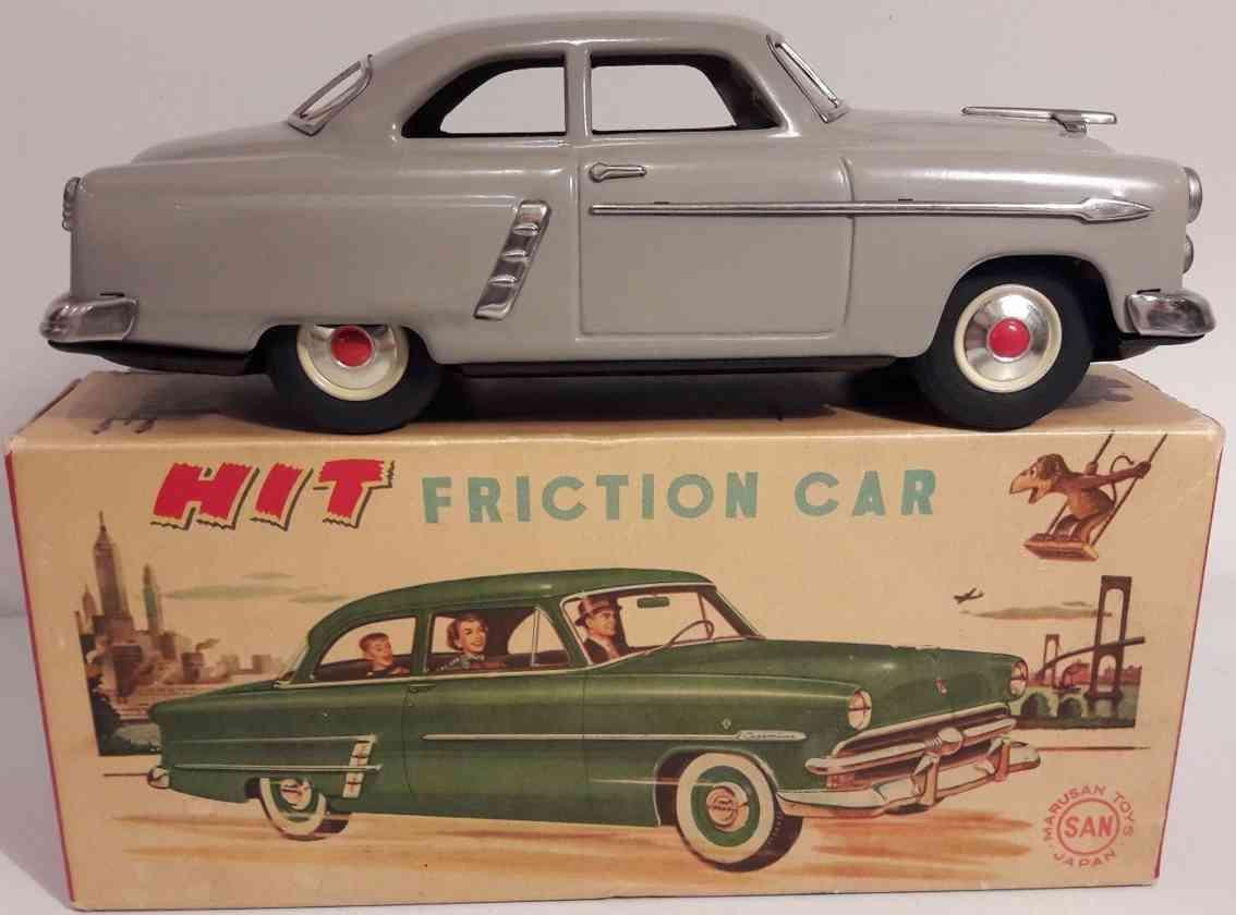marusan shoten Ford 26 blech spielzeug auto ford mit fritkionsantrieb, aus blech in grau, mit karton, si