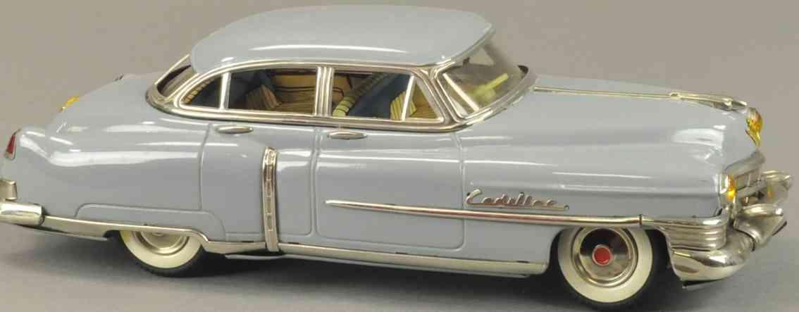 marusan shoten  spielzeug cadillac weissblech luxusauto grau fritionsantrieb