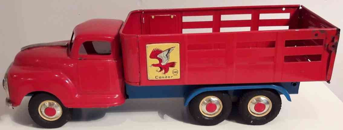 marusan shoten blech spielzeug lastwagen studebaker rungenwagen rot