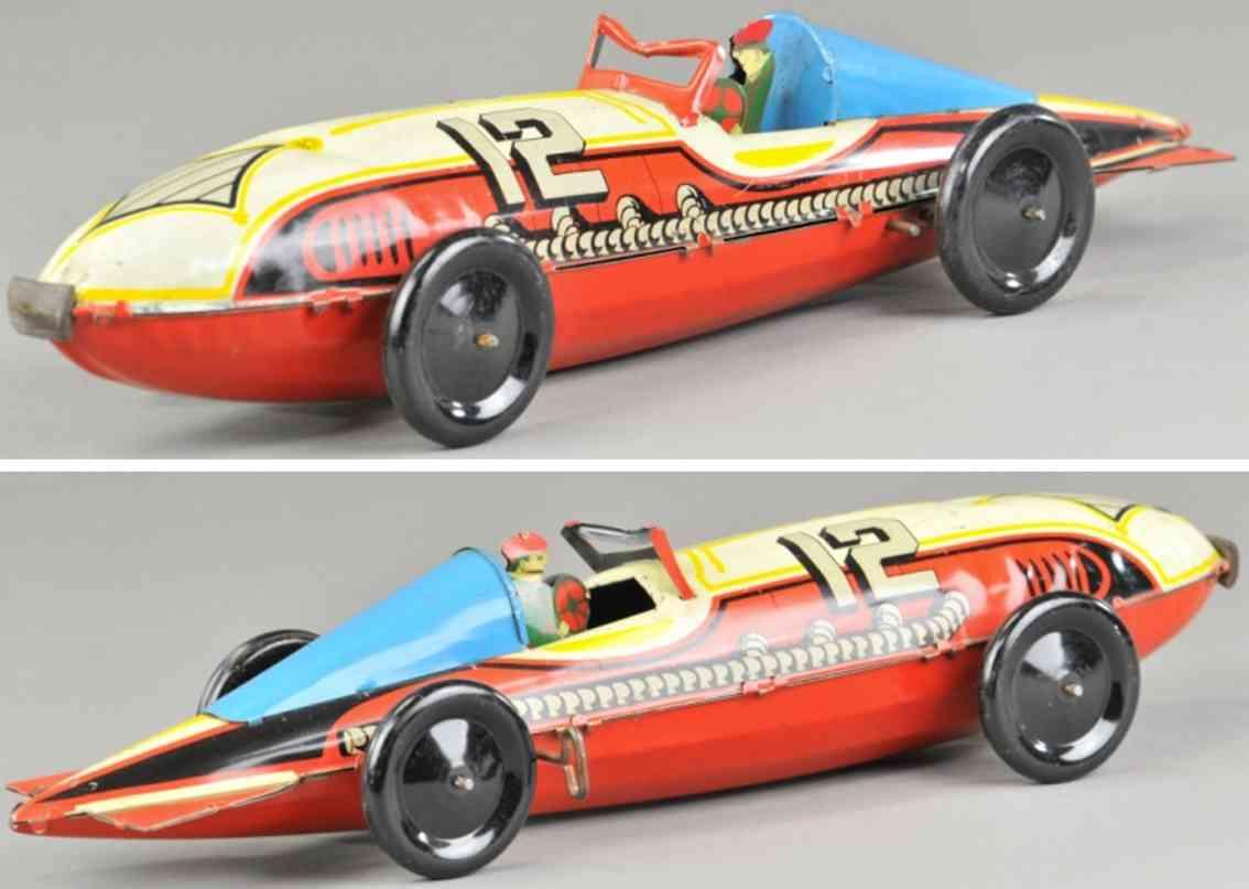 marx louis 12 blech spielzeug auto rennwagen