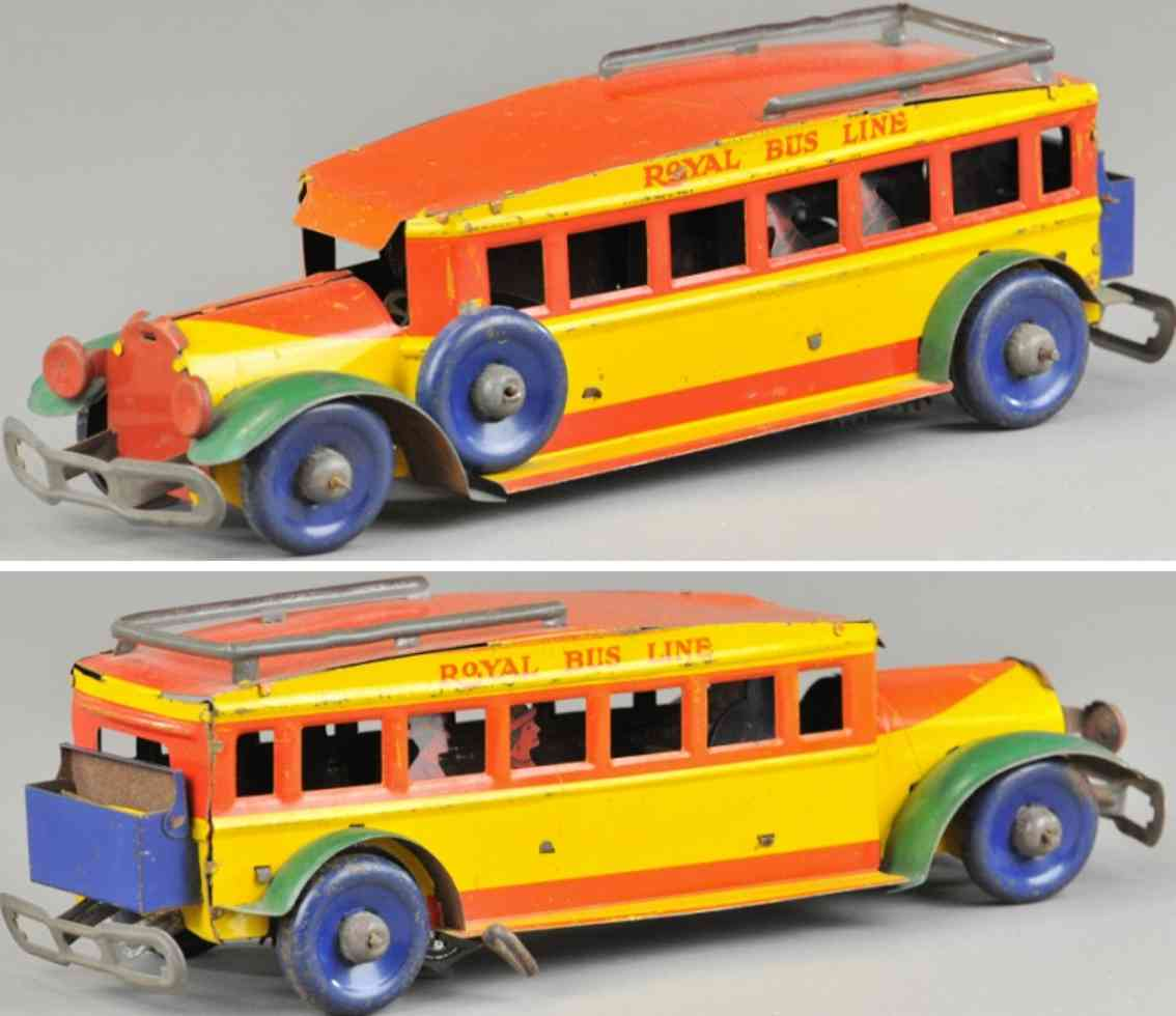 marx louis 305 blech spielzeug royal bus uhrwerk