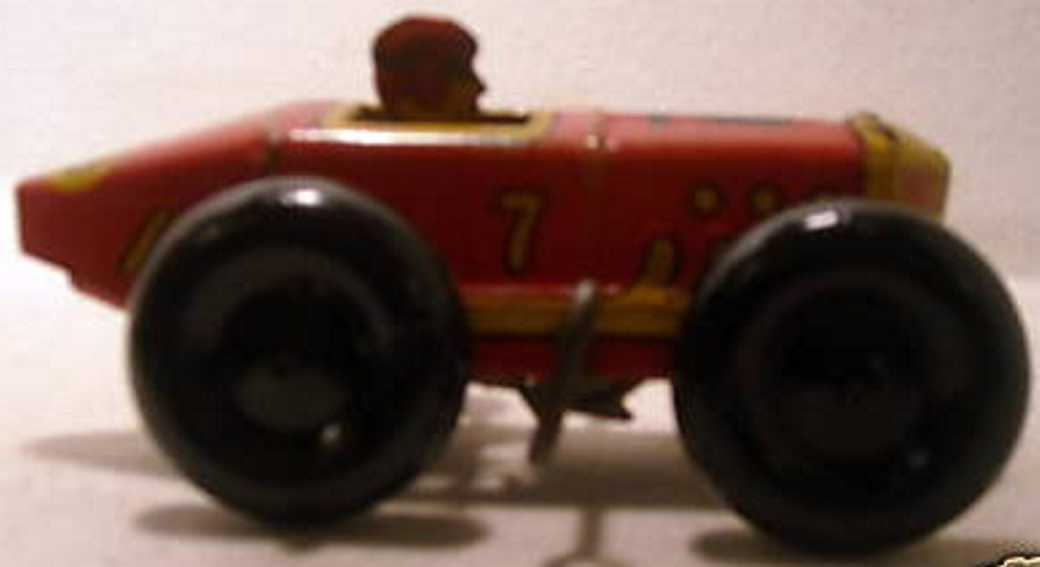 marx louis 7 tin toy race car racer with wind-up