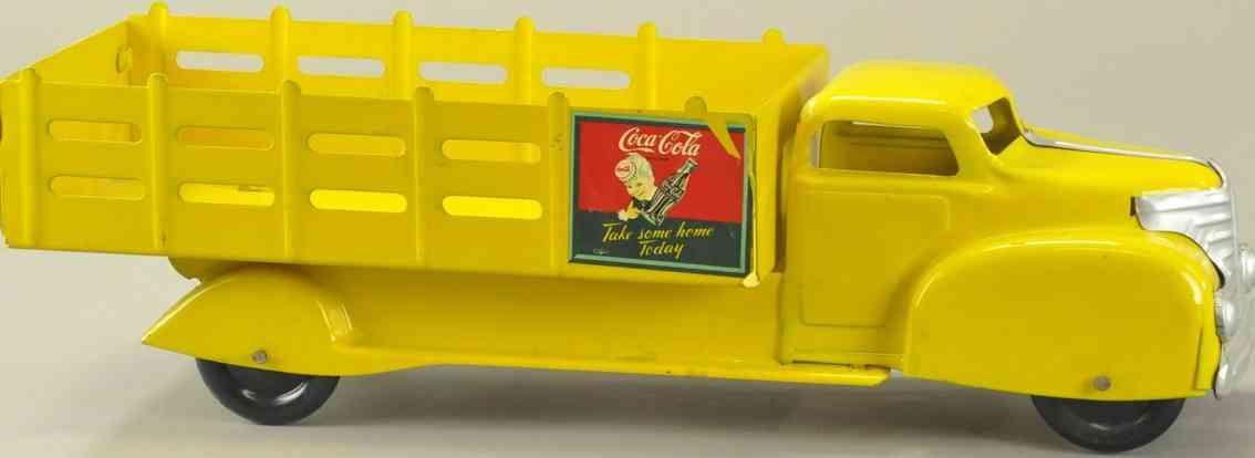 marx louis 991 stahlblech coca-cola lastwagen gelb