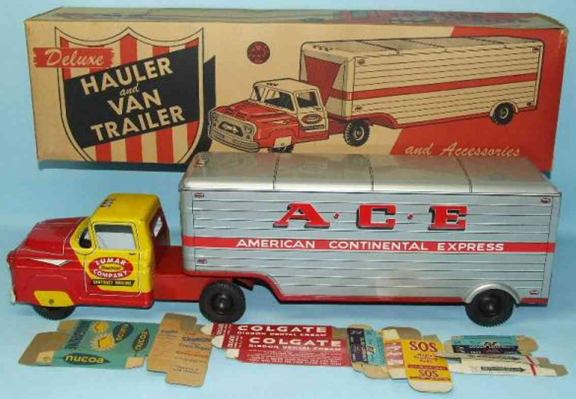 Marx Louis ACE delivery truck an van traile