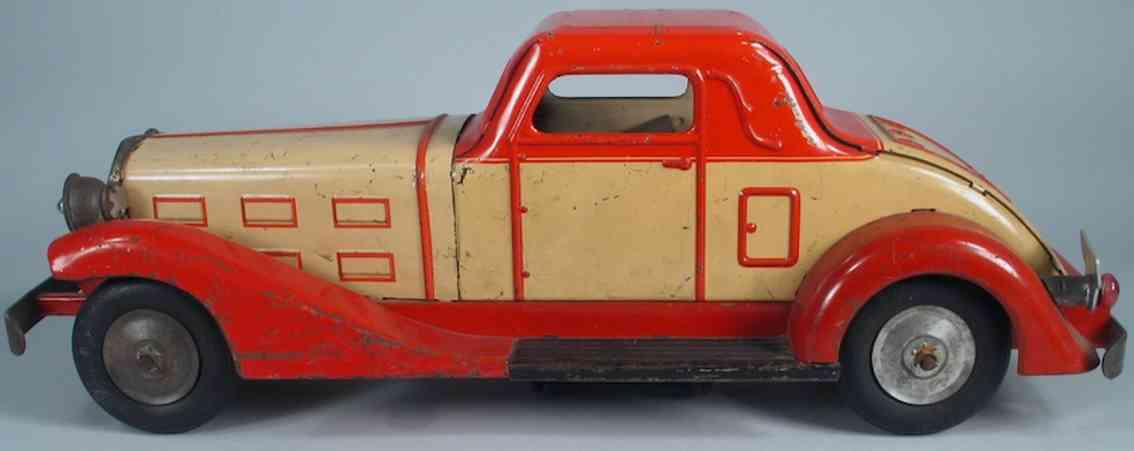 marx louis tin toy car electric motor coupe