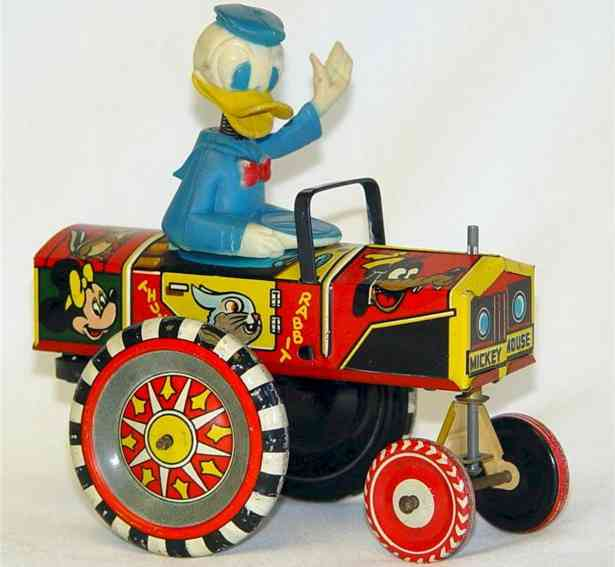 marx louis tin toy donald duck dipsy car