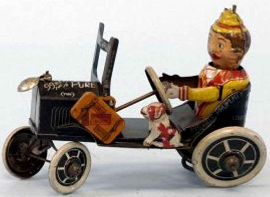 marx louis Joy-Rider blech spielzeug auto joy-rider mit hund