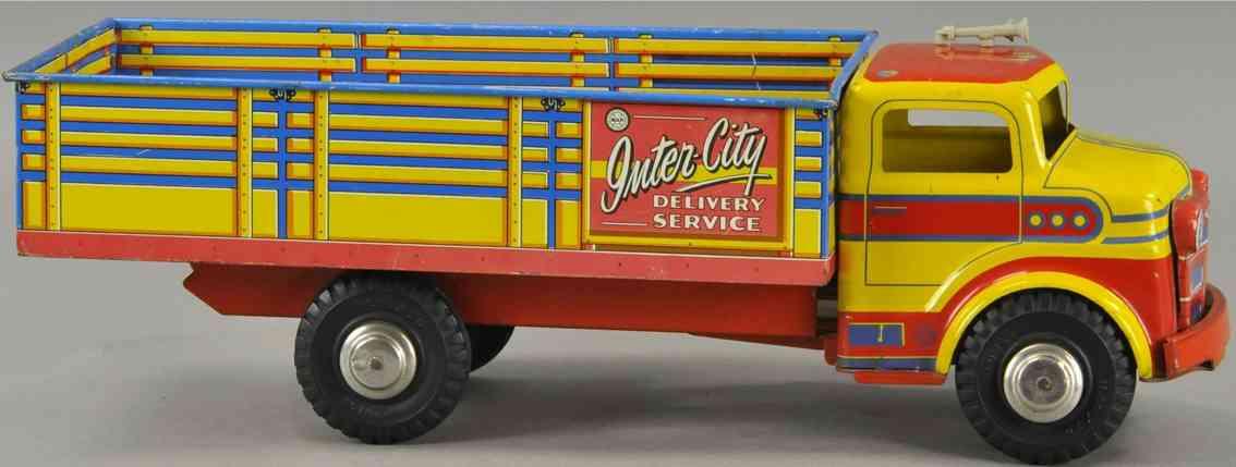 marx louis blech spielzeug intercity lieferwagen rot gelb blau