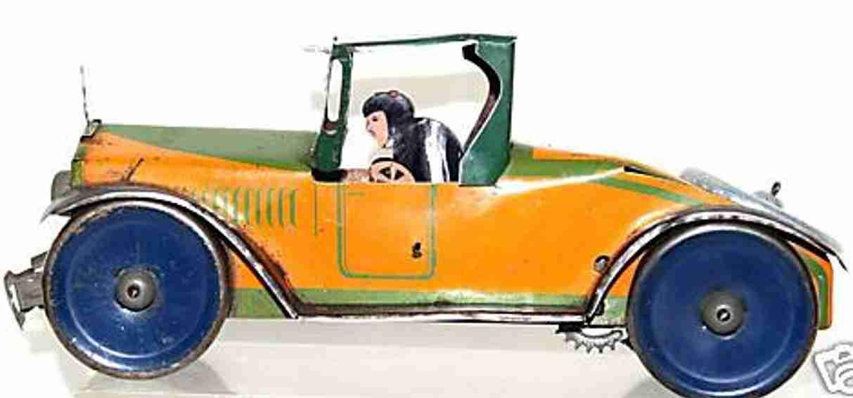 marx louis blech spielzeug auto king rennwagen mit uhrwerk