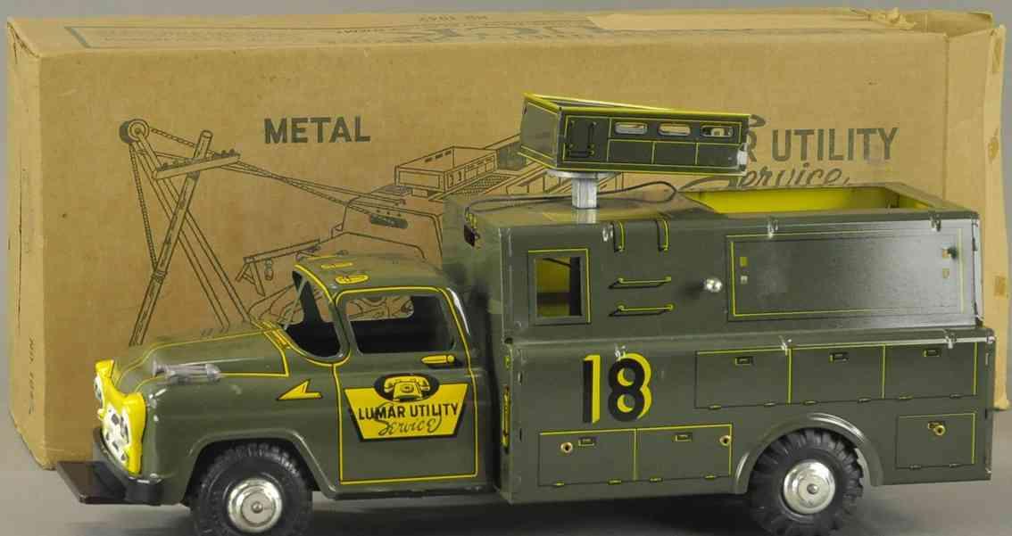 marx louis blech spielzeug lastwagen lumar werkzeugwagen drahtspule