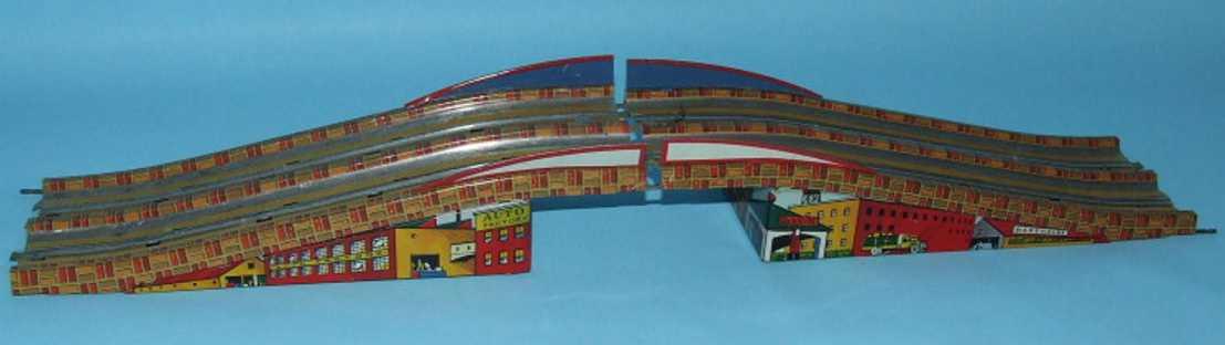 marx louis blech spielzeug autobahn elektrische autobahn mit zwei spuren und uhrwerk bestehend a