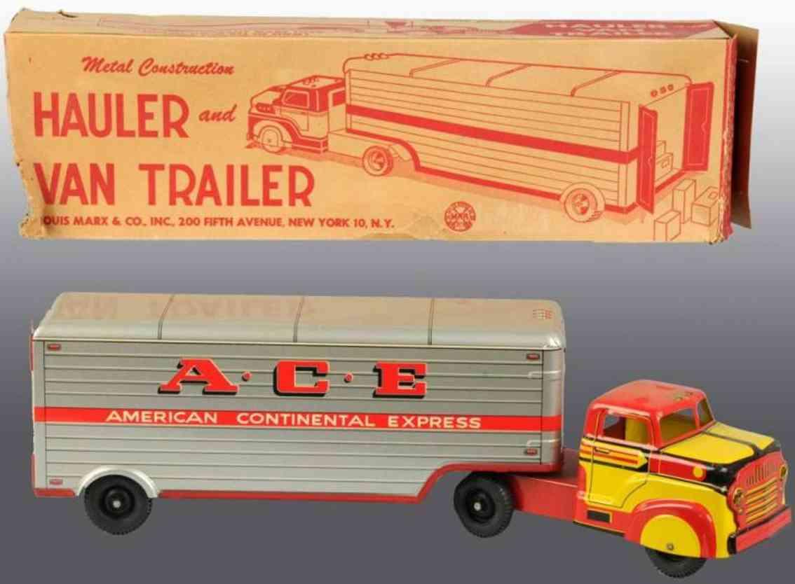 Marx Louis Co. Lastwagen ACE Van Hauler