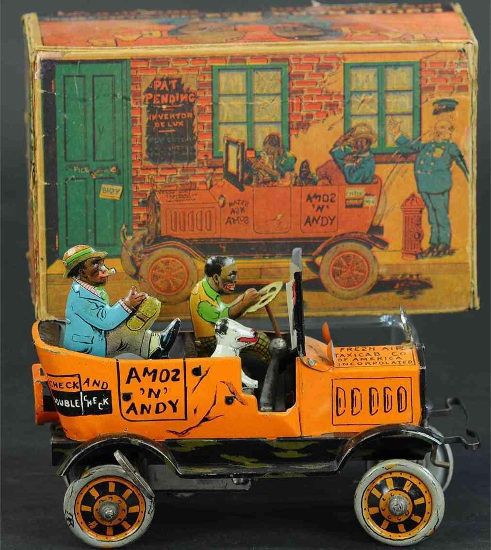 marx louis tin toy car amos & andy fresh air cab