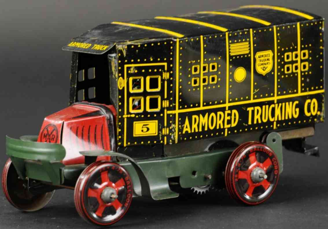 marx louis armored trucking tin toy truck