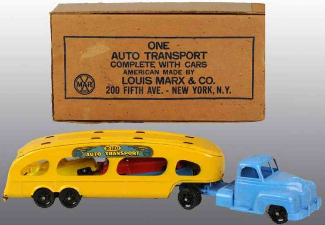Marx Louis Auto transport truck wit cars
