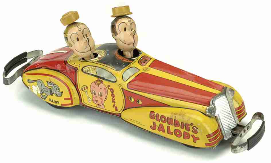 marx louis tin toy car blondie's jalopy