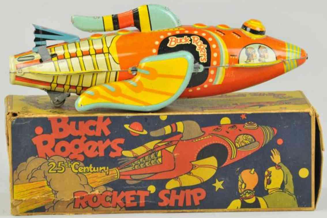 marx louis tin toy buck rogers rocket ship