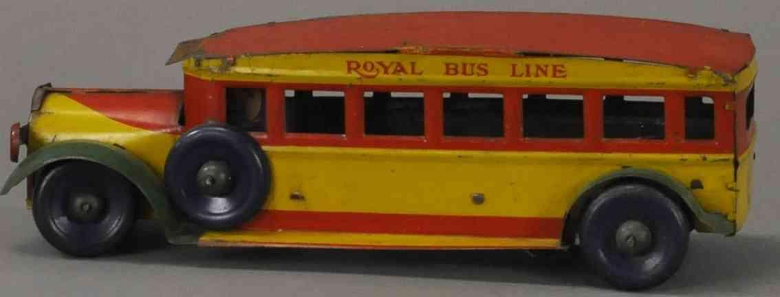 marx louis 305 blech spielzeug autobus royal fahrer