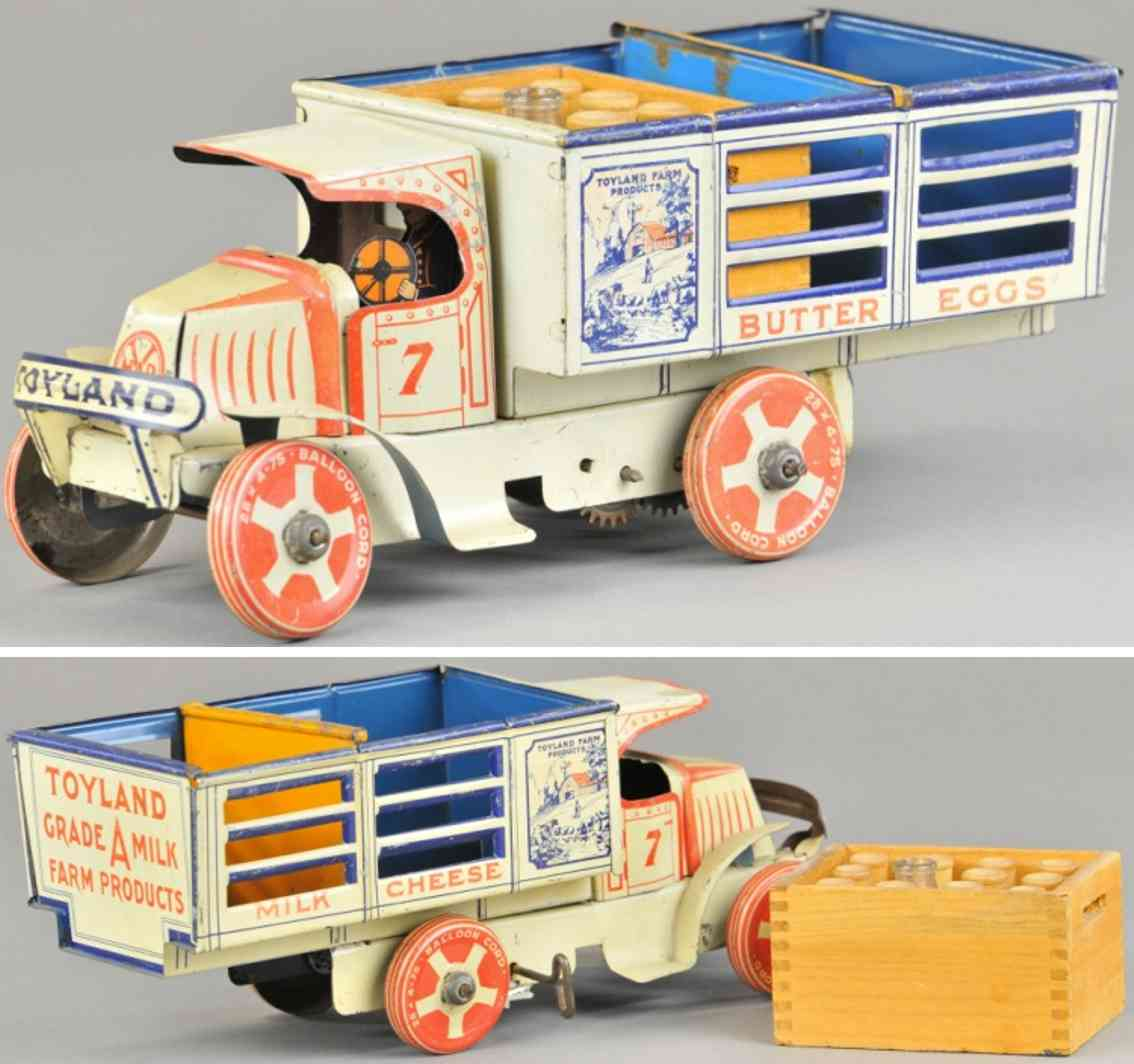 marx louis tin toy delivery truck butter eggs
