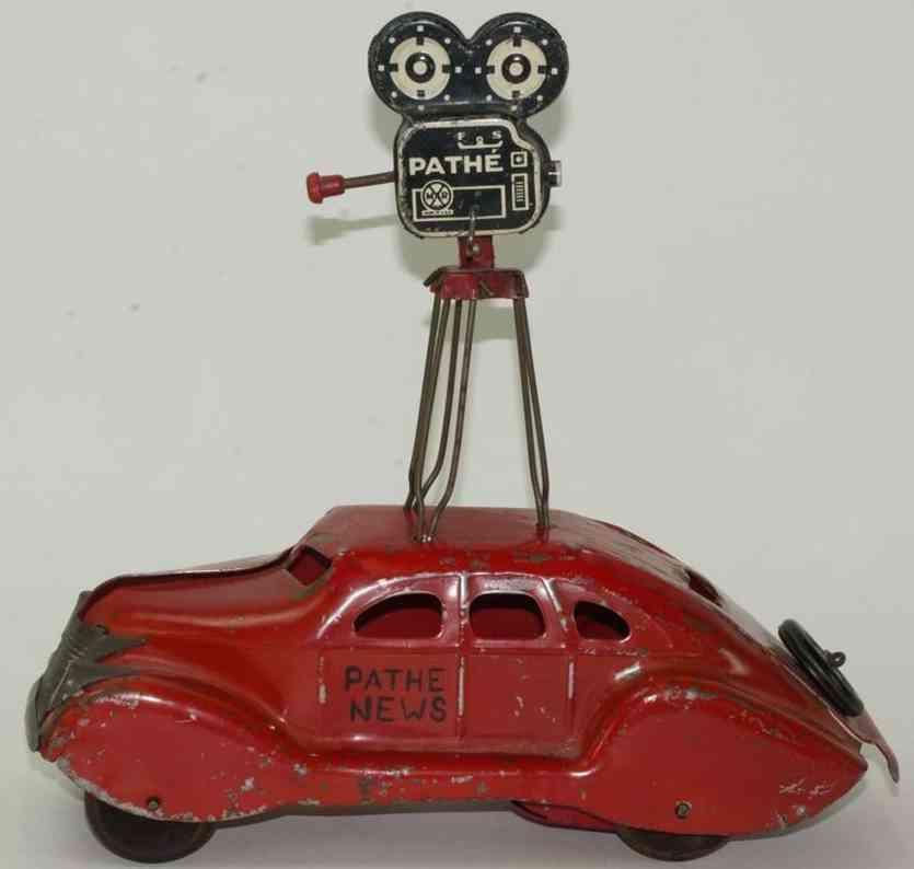 Marx Louis Lincoln Zephyr  Auto mit Fernsehkamera
