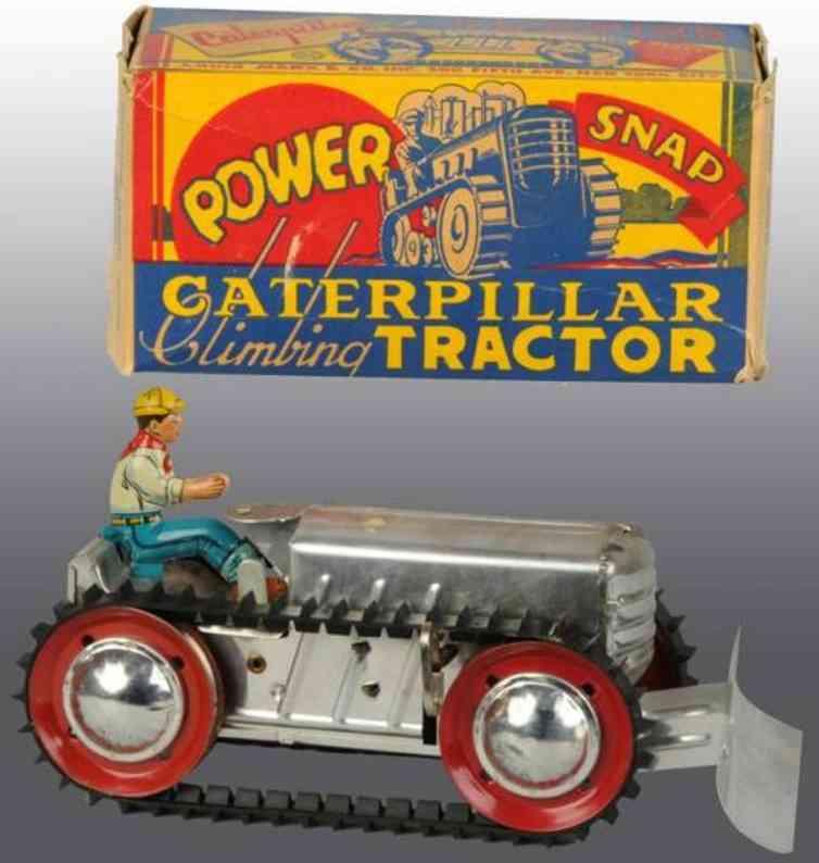 marx louis blech spielzeug kletternder traktor caterpillar