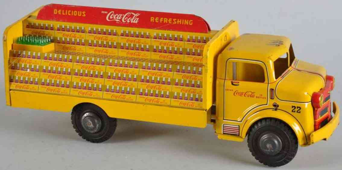 Marx Louis Coca Cola truck in yellow