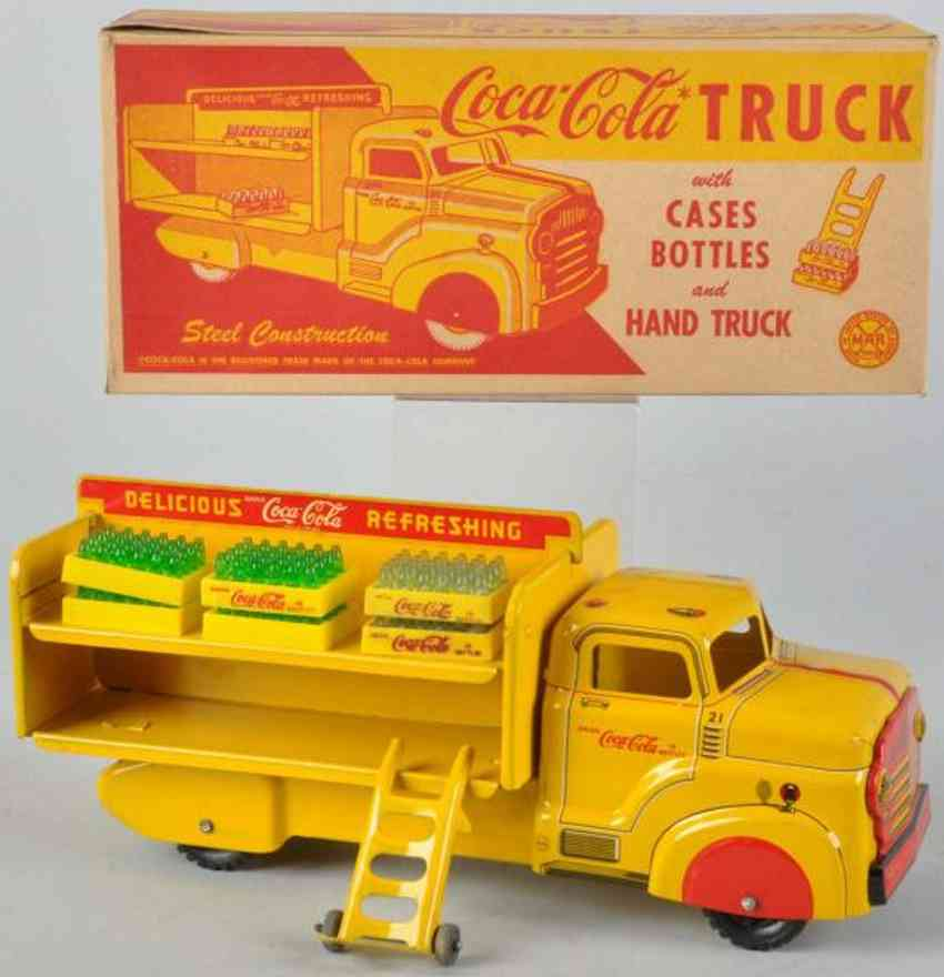 marx louis 21 coca cola truck in yellow