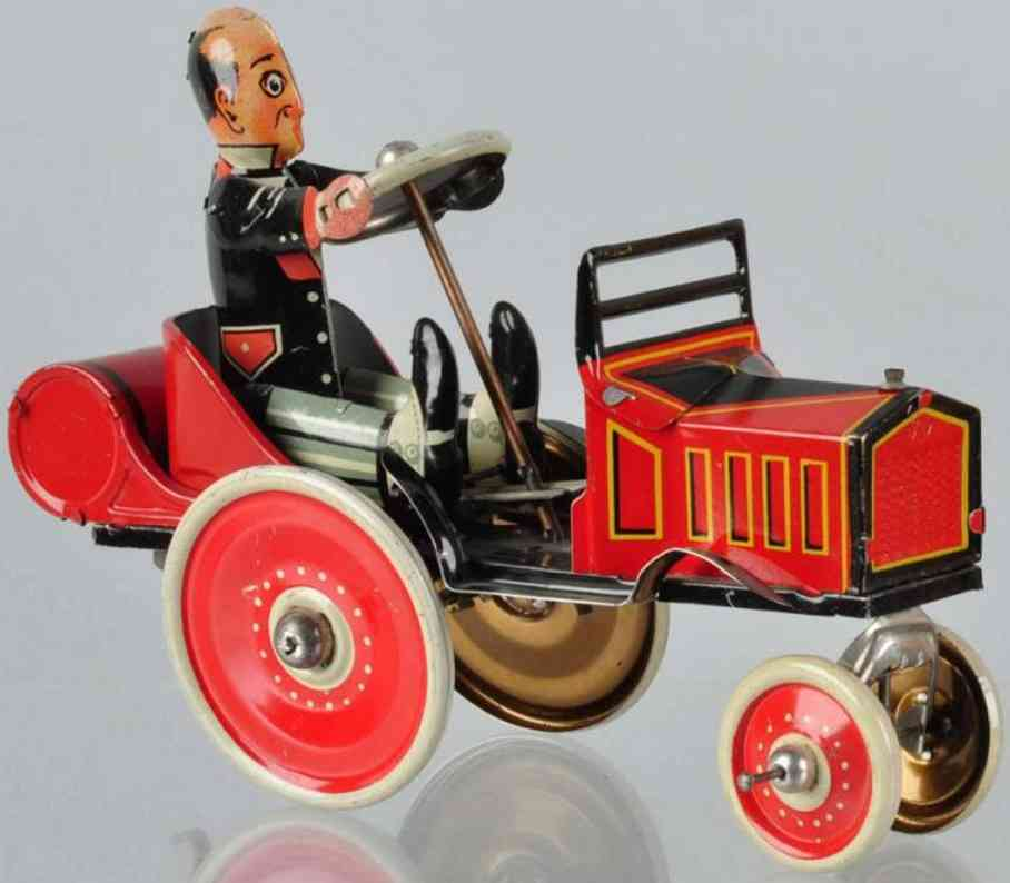 marx louis 24 tin toy coo-coo car red