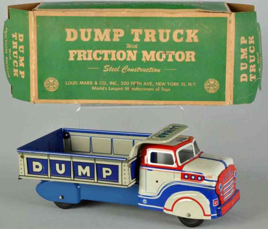 Marx Louis Tin dump truck with friction drive