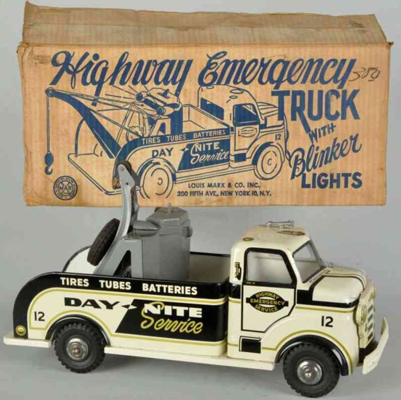 Marx Louis Pressed steel highway emergency truck