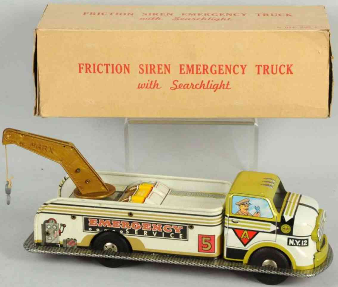 marx louis tin toy friction emergency service truck