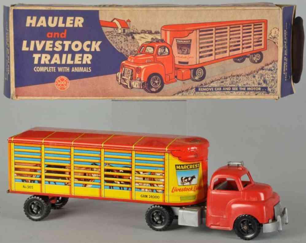 Marx Louis Speditionslastwagen und Tiertransporter Marcrest Livestock Lines