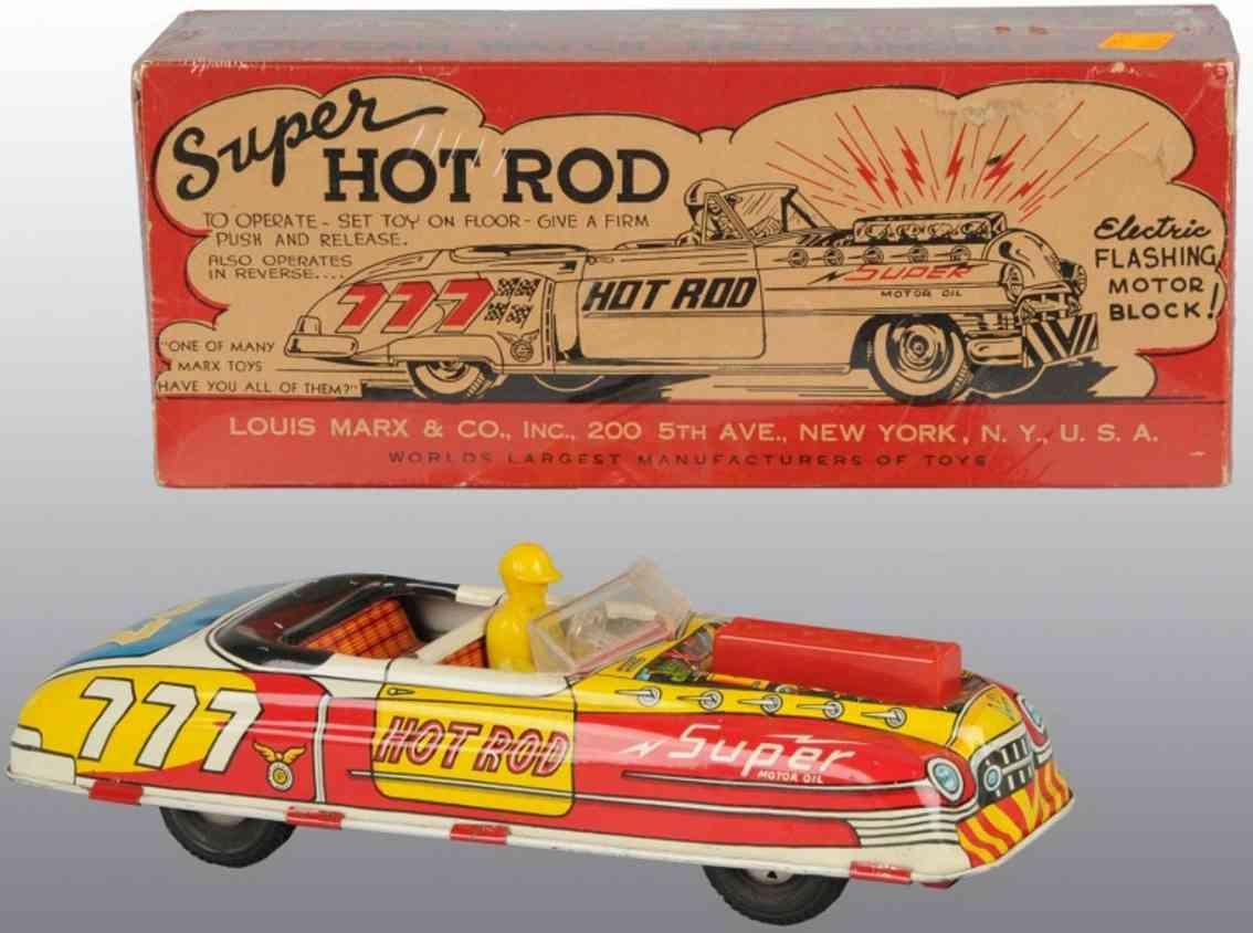 Marx Louis Co Super Hot Rod Auto