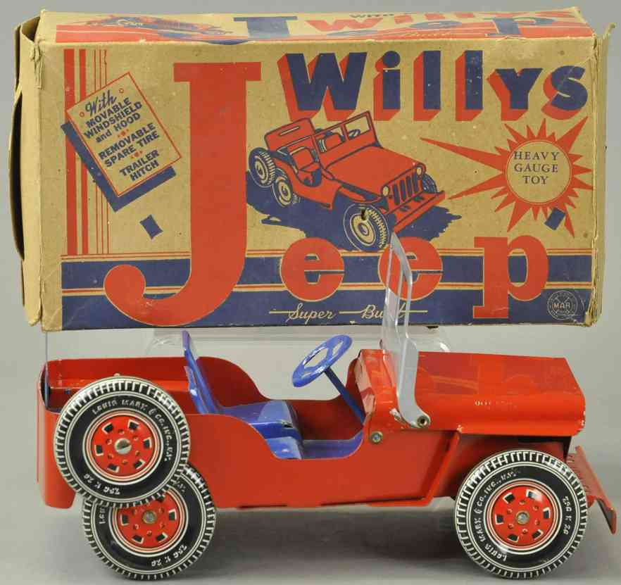 marx louis blech jeep willy's jeep rot