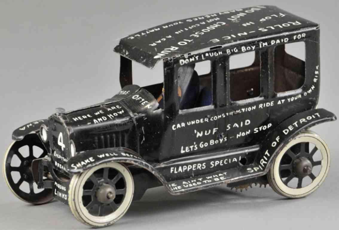 marx louis blech spielzeug auto tin lizzie auto schwarz fahrer
