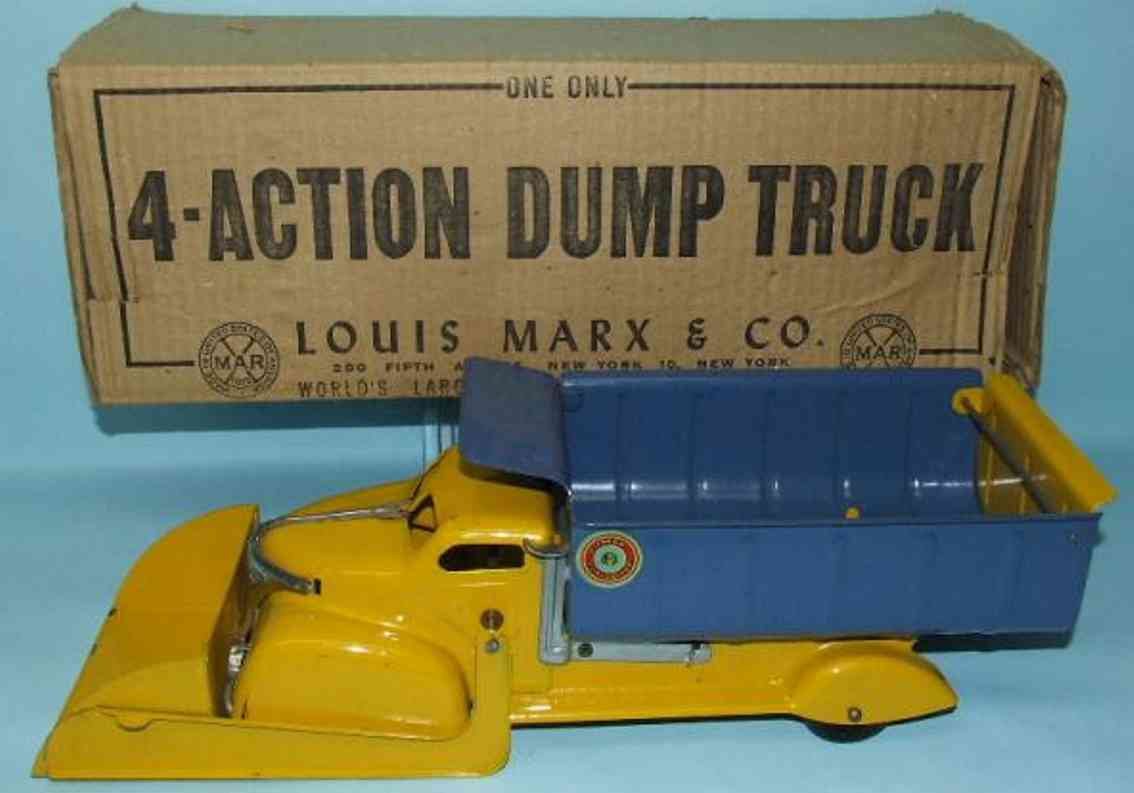 Marx 895 Lumar contractors 4 action scoop dump truck.