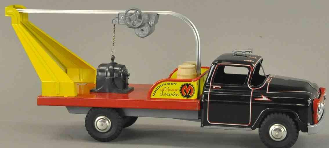 marx louis blech spielzeug lastwagen ladewagen mit hebevorrichtung