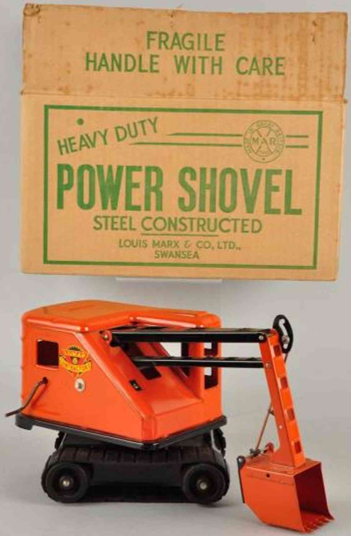 marx louis shovel power pressed steel orange