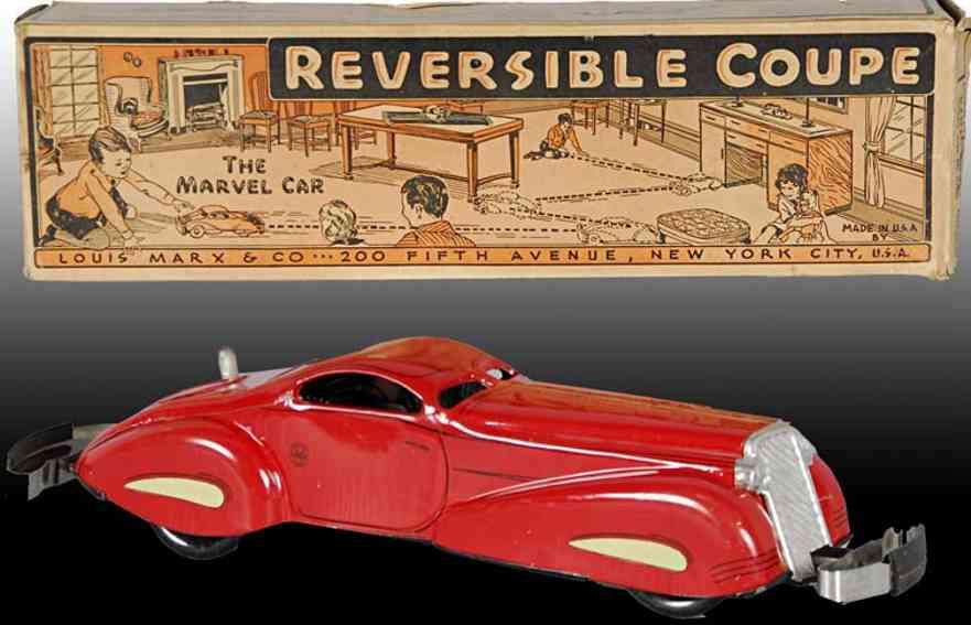 marx louis tin toy car reversible coupe toy auto