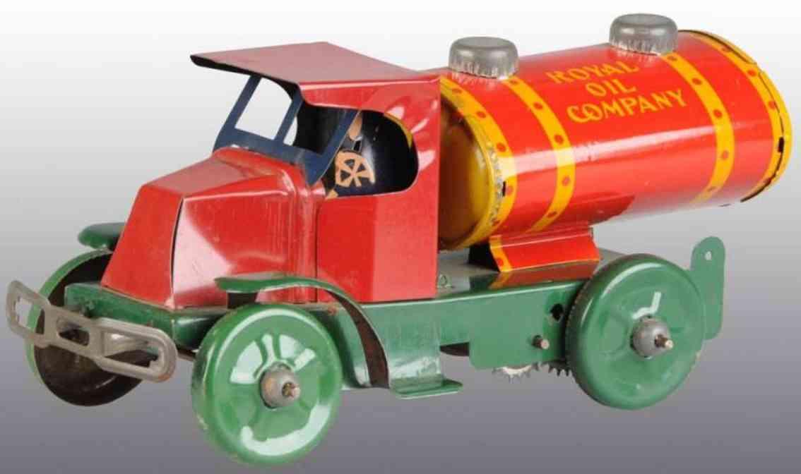 marx louis royal oil blech spielzeug benzinlastwagen uhrwerk