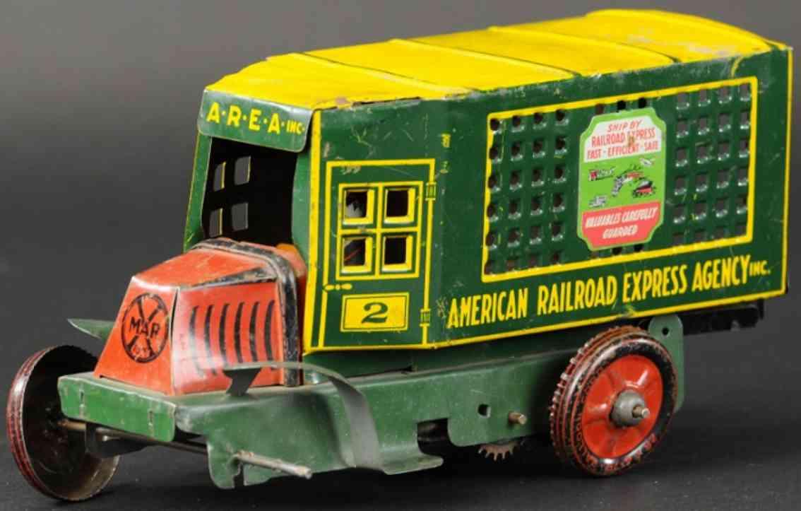 marx louis rr american railroad express agency blech lastwagen