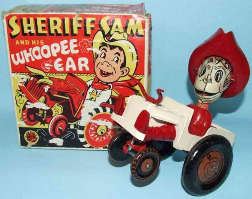 marx louis blech spielzeug sheriff sam und sein auto uhrwerk