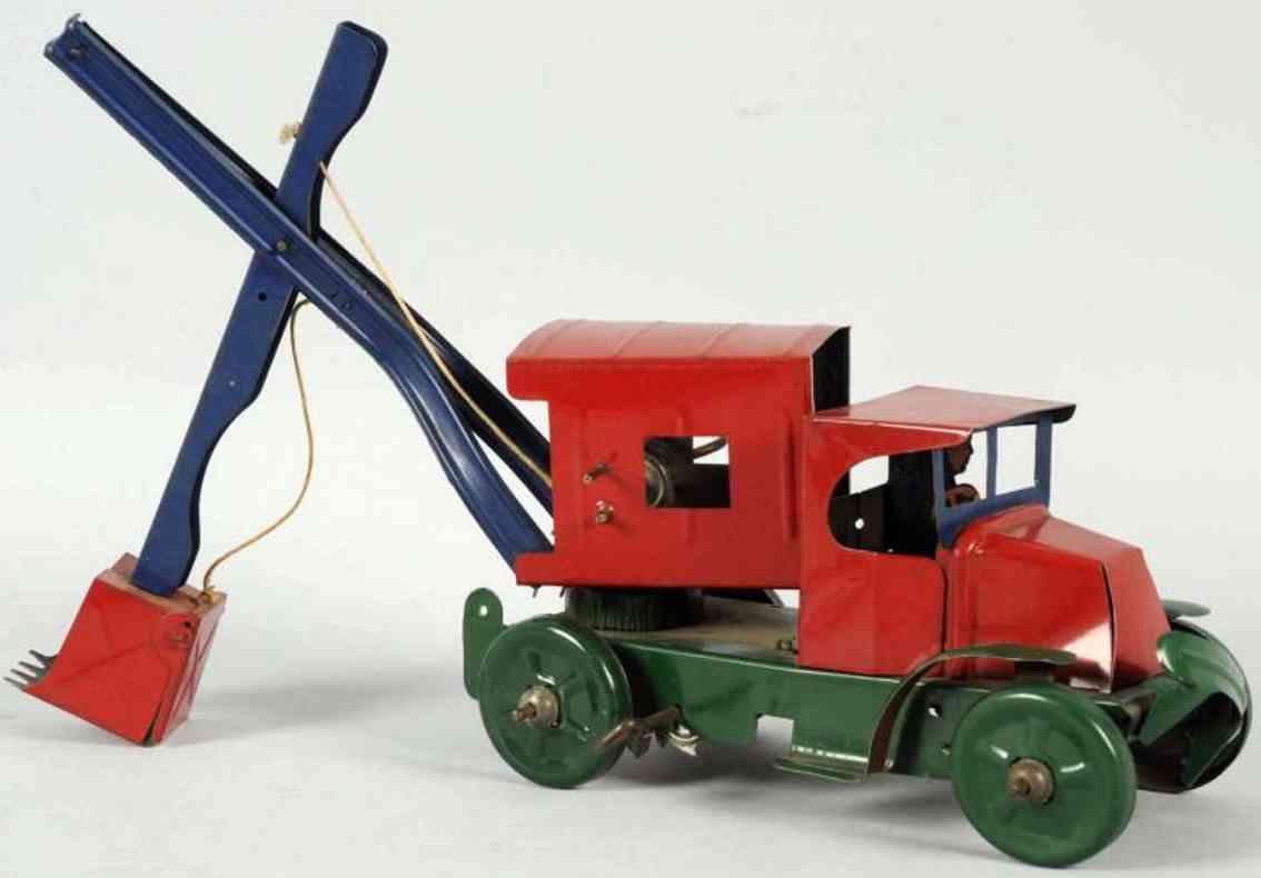 marx louis blech spielzeug schaufelbagger lastwagen