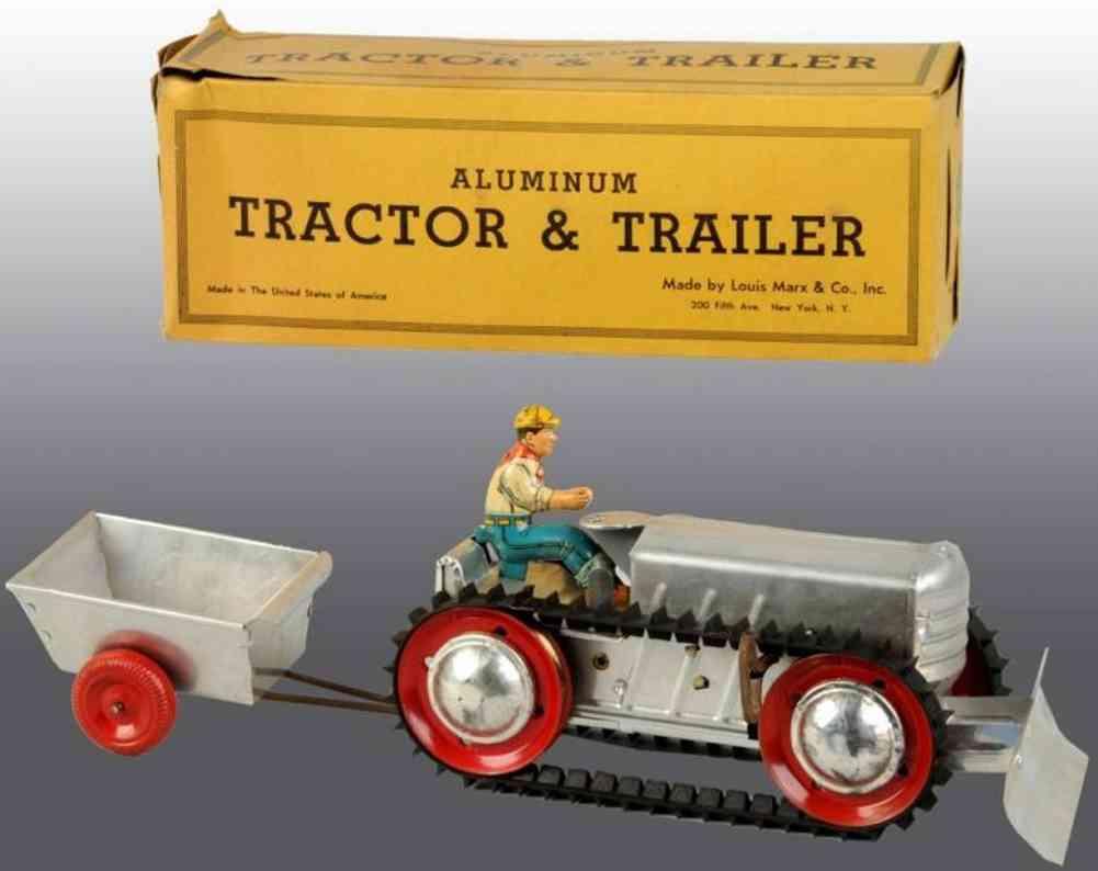 Marx Louis Co. Traktor mit Anhänger