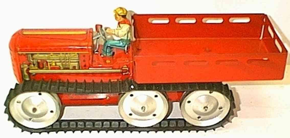 marx louis blech spielzeug traktorlastwagen kipper uhrwerk