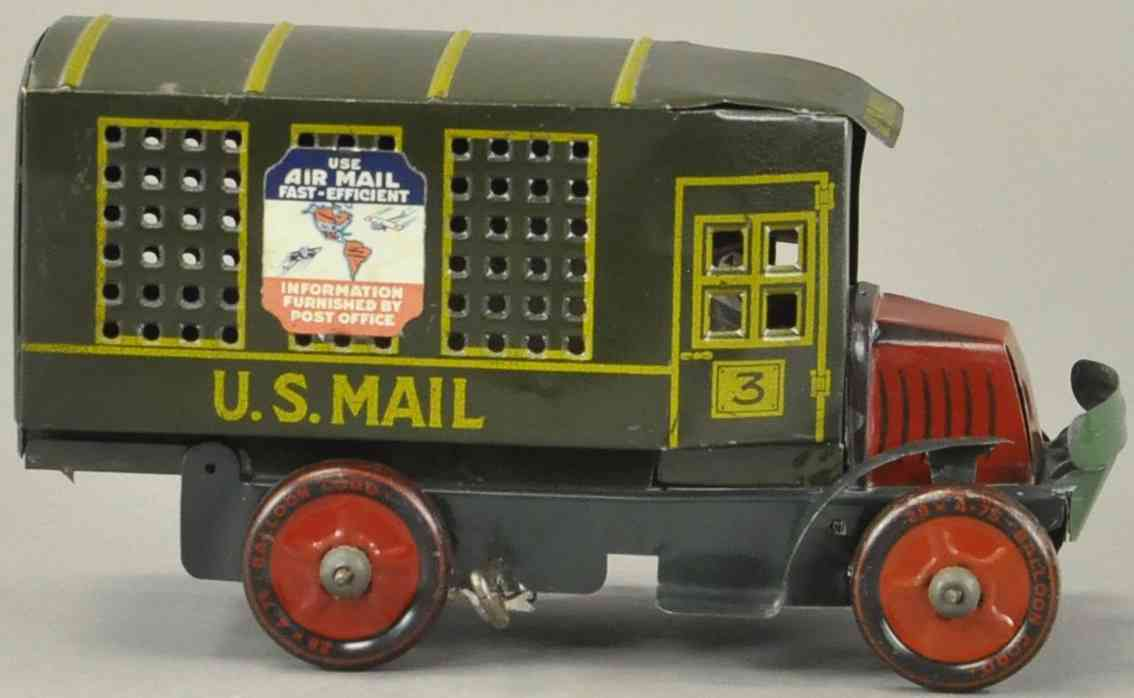 marx louis us mail car tin toy truck