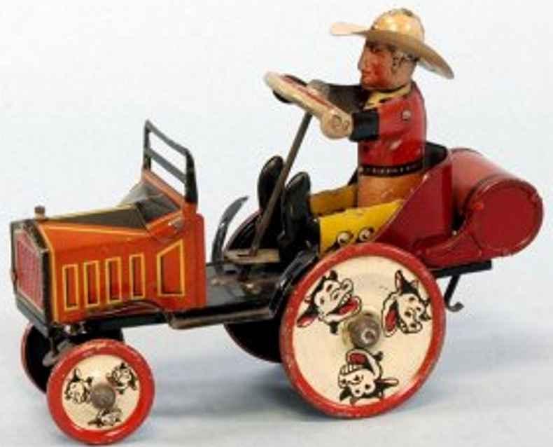 marx louis 25 blech whoopie auto cowboy uhrwerk